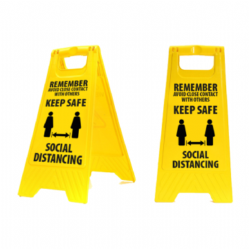 'A' Frame plastic Hazard Sign
